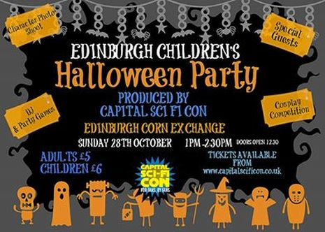 edinburghs newest childrens halloween party brought to you by the creators of capital sci fi con